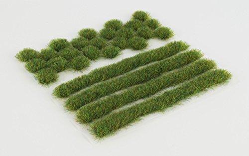 WWS Sommer Selbstklebende Streifen und Büschel Set aus 2mm, 4mm Oder 6mm Statische Grasfasern (6mm)