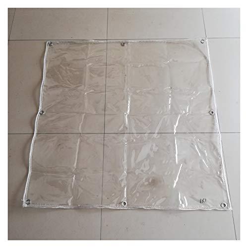YJFENG Lona Transparente para Balcón, Mantel De PVC De 0,3 Mm con Ojal, Impermeable, Resistente A La Intemperie, para Acampar, Techo De Refugio (Color : Claro, Size : 3X4M)