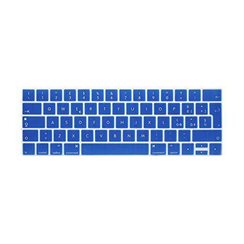 Funda de silicona para teclado MacBook Pro Retina 2016 de 13 pulgadas y 15 pulgadas con Touch Id y Touchbar Euro Eu Italiano Italiano-Azul