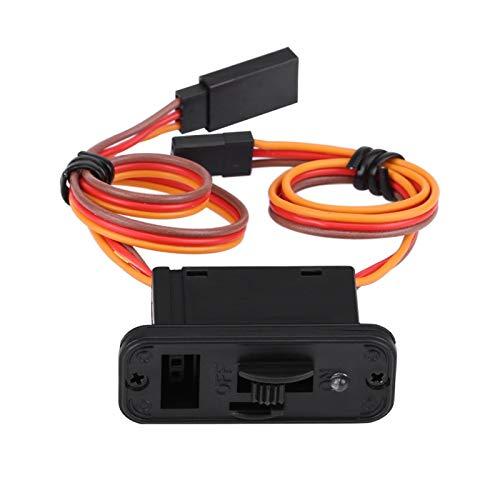 Interruptor de avión RC - 1 pieza, resistente, gran corriente, LED, interruptor RC, JR, conector de encendido y apagado, accesorio para receptor