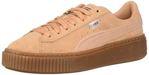 PUMA - Sneaker da donna in camoscio, beige (Dusty Coral-puma Silver), 39 EU