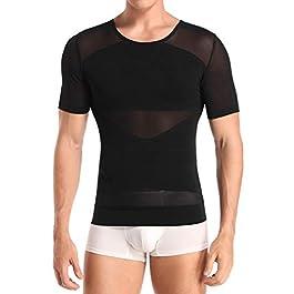 Men Body Shaper Waist Trainer Shapewear Gynecomastia Chest Tummy Control T Shirt Compression Tops Posture Corrector Undershirt