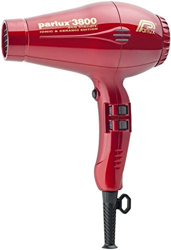 Parlux 3800 Ceramic Plus Ionic Eco Friendly Metallic Red by Parlux