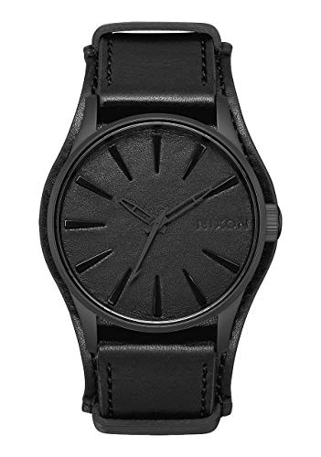 Nixon Mens Sentry Leather Metallica Collection - Black Album