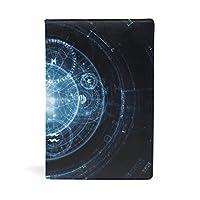 ブックカバー 文庫 a5 本 カバー 革 レザー 光 ハレーション 星柄 ブルー ブラック 羅針盤 おしゃれ かわいい 文庫本カバー ファイル 資料 収納入れ オフィス用品 読書 雑貨 プレゼント