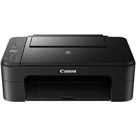 Canon PIXMA TS3350 - Stampante multifunzione a getto d'inchiostro a colori (stampa, scansione, copia, display LCD da 3,8 cm, WLAN, Print App, 4800 x 1200 Dpi), colore: Nero