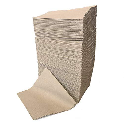 Sellaviva - Tovaglioli in carta riciclata, 24 x 24 cm, 2 veli, 250 pezzi, colore naturale