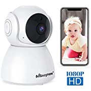 Mbuynow WLAN Überwachungskamera, HD 1080P WLAN IP Kamera 355°Schwenkbare Überwachungskamera innen Zwei-Wege-Audio Babyphone Kamera mit Nachtsicht Babymonitor