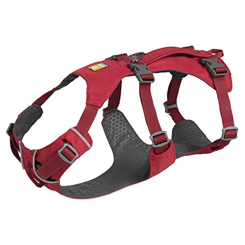 RUFFWEAR - Flagline Lightweight Multi-Purpose Harness for Dogs, Red Rock, Medium