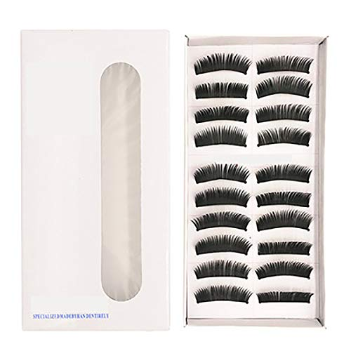 10Pairs Naturel Faux Cils Set Bande Souple À Fibres Main Réutilisables Fluffy Demi Wispies Faux Cils Confortable 10 Paires, Yeux Lashes Paquet Cils Professional,F5