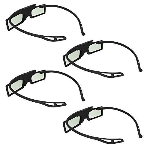 Andoer G15-DLP 3D Gafas 96-144Hz Active Shutter Obturador Activo para LG/BENQ/Acer/Sharp DLP Link proyector 3D