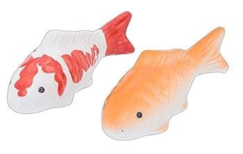 Creative Co-Op Set of 2 4  Assorted Koi Fish Floatable Figurines