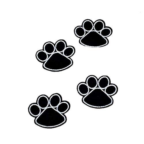 U-K 10 Piezas Parche Bordado Negro Garra de Perro Gato Pata Insignias...