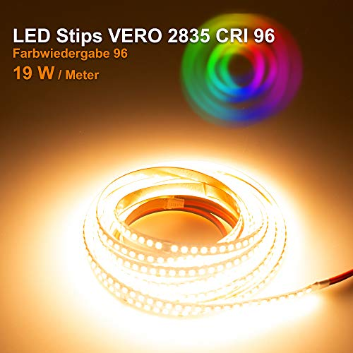 Preisvergleich Produktbild LED Streifen Vero Mextronic LED Streifen LED Band LED Strip VERO Warmweiß (2700K) CRI 96 96W 5 Meter 24V IP20
