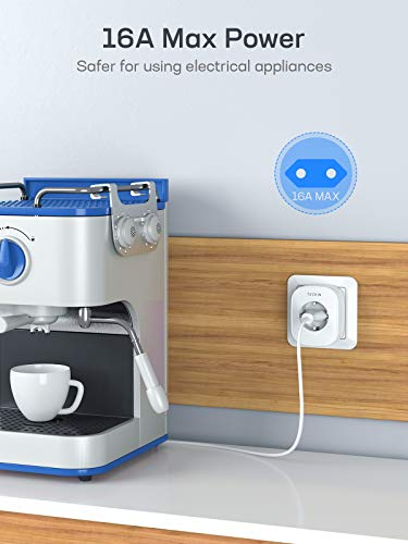 Enchufe Inteligente Wifi, Teckin (Compatible con Alexa Echo Google Asistente)