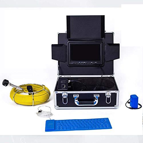 XINTONGSPP Rohrinspektion Videokamera, 9 Zoll WiFi Industrial Pipeline Abwasserkennungskamera IP68 Drainage Detection 1000 TVL-Kamera-DVR-Video,50m