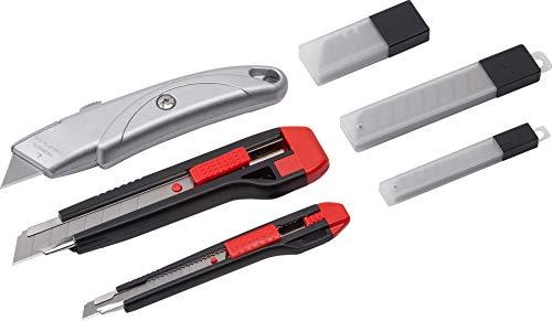 Werkzeyt Universalmesser-Set 33-teilig - Universal- und Abbrechmesser (18 mm und 9 mm) - mit Ersatzklingen - zum Schneiden Sämtlicher Materialien/Teppichmesser mit Trapezklinge/Cuttermesser/ 8910190