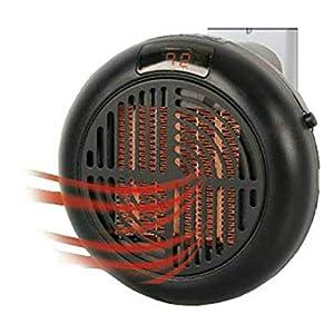 Calentador portátil de bajo consumo, calentamiento rápido, temperatura ajustable, adecuado para uso en oficinas / dormitorios / espacios pequeños