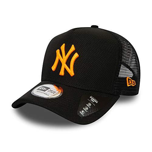 New Era New York Yankees MLB Cap New Era Kappe Trucker Baseball Diamond Era Schwarz Neon Orange - One-Size