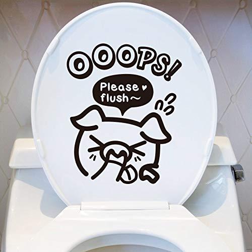 WYFIIIYY Pegatinas de Coche de la Personalidad del Coche Cute Funny Bathroom Asiento Cubierta de Asiento Pegatinas Etiquetas engomadas de la Pared del Inodoro (Color : 1)