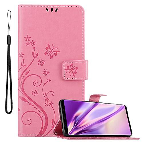 Cadorabo Funda Libro para Samsung Galaxy Note 9 en Rosa Floral – Cubierta Proteccíon en Diseño de Flor con Cierre Magnético, Función de Suporte e 3 Tarjeteros - Etui Case Cover Carcasa