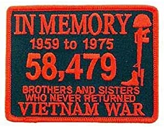 Vietnam, in Memory - Embroidered Patches, Iron On Patch - 3
