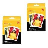 Kodak 3.5x4.25 inch Premium Zink Instant Print Photo Paper (80 Sheets) Compatible with Kodak Smile Classic Instant Camera