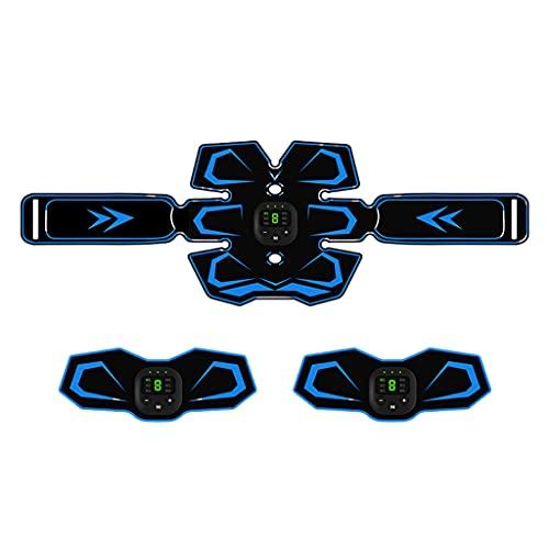 Milageto Entrenador de Tonificación de Músculos Abdominales Estimulador de ABS Toner Cinturón de Fitness Portátil