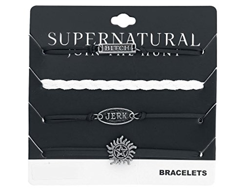 Supernatural Armband Anti Possession schwarz weiß