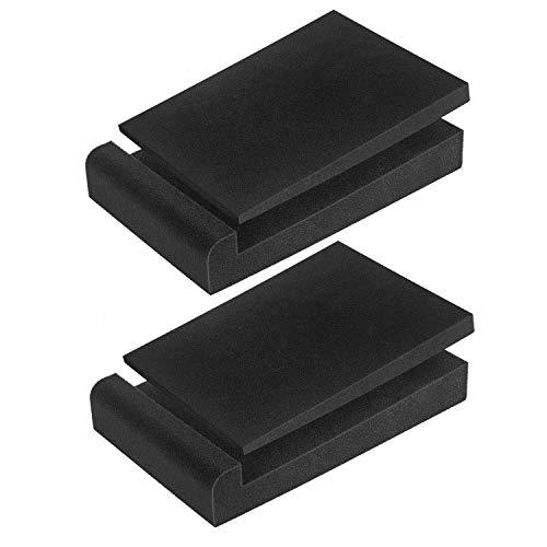 High Density Studio Monitor Verstärker Isolation Pads, Subwoofer Lautsprecher Stabilisator Lautsprechersockel 28 x 19 x 4 cm (schwarz)