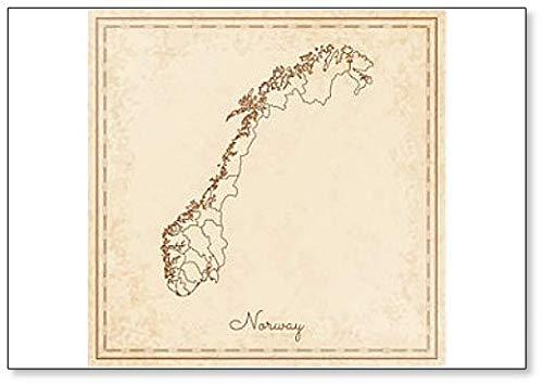Mapa de la región de Noruega – Imán para nevera