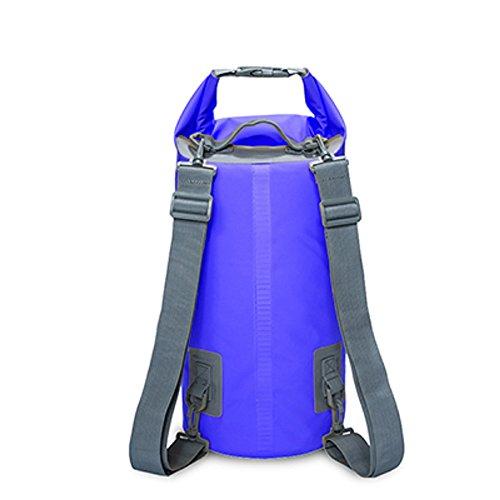 Bolsa estanca caja estanca mochila impermeable Bolsas Estancas con Correa de Hombro Ajustable para Viajes, Kayak, Surf, natacion, pesca, playa, senderismo, Camping, Buceo, Escalada (Azul Oscuro, 10L)