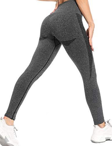 INSTINNCT Collant Running Femme Sans Couture Legging Sport Push Up Motif Jacquard Pantalon Sport Collant Compression Slim Pour Fitness Gym Yoga
