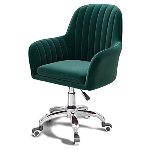 W-xiao stool Silla de escritorio de terciopelo con rotación de 360 grados, soporte para la cintura, silla de escritorio ajustable para ordenador, para oficina, salón, comedor, dormitorio, vestidor
