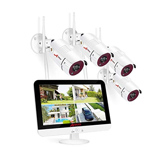 [8CH Expandable] ANRAN All-in-one Wireless Security Camera System with 13''...