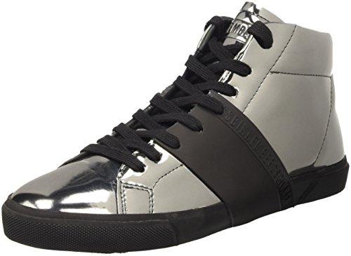 Bikkembergs Damen Rubb-Er 752 Mid Shoe M Lame' High-Top, Grau (Matte Gun/Black), 41 EU
