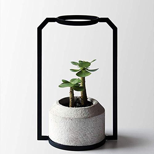 Cemento Pietra Vaso da fiori Arte semplice Cornice in ferro Decorazione retrò Creativa Carne Pianta Cactus Pianta in vaso Gres Geometria Contenitore Fioriera Decorazione desktop in stile nordico Vaso