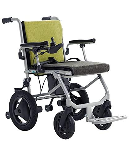 XIAOQIAO Silla de Ruedas Eléctrica Plegable Ultraligera para Sillas de Ruedas, Silla de Movilidad para Adultos, Ancianos, Personas Mayores
