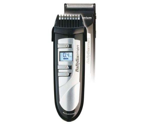 BaByliss E852XE nauwkeurige baardtrimmer met LCD-display, batterij- en netvoeding