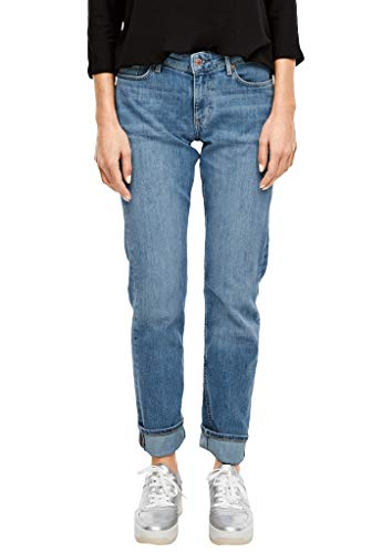 s.Oliver Damen Regular Fit: Straight leg-Denim blue sretched deni 34.34