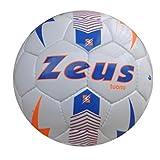 Zeus Pallone da Calcio Tuono Ball Calcetto Sport Pegashop Taglia 4 (BIANCO-LIGHT ROYAL-ARA...