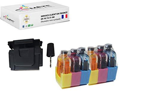 1 Kit de recarga de colores para cartucho HP305 HP 305XL compatible con las impresoras HP DeskJet HP OfficeJet HP Envy fácil económico y ecológico – Cometa Francia