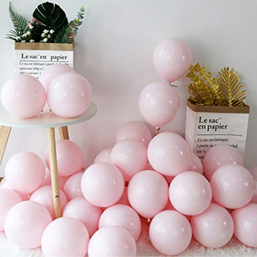 100pcs 10' Party Decoration Pastel color Balloons Macaron Candy Colored Latex Balloons for Birthday Wedding Engagement Anniversary Christmas Festival-Macaron Pink