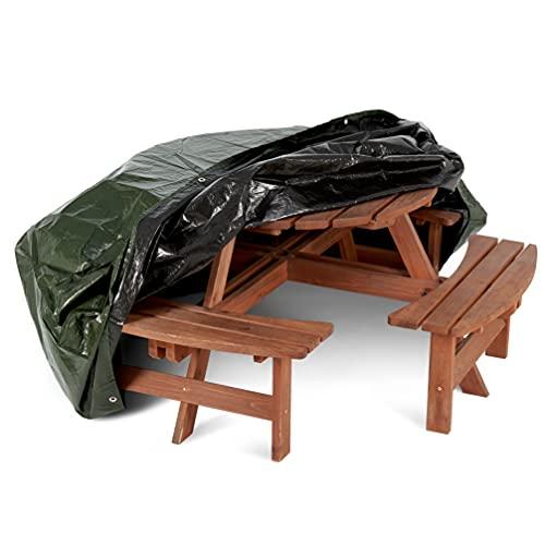 BRAMBLE! Redonda Funda Muebles Exterior (190x80cm) - Funda Protectora Mesa Jardin
