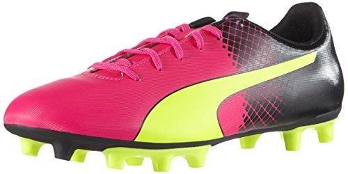 Puma Herren EVO Speed 5.5 FG 103596 Fußballschuhe, Pink (pink glo-safety yellow-black 01), 44.5 EU