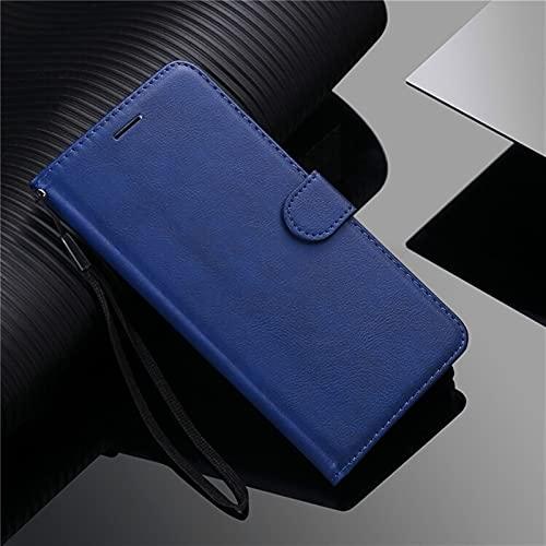kuaijiexiaopu Fundas Para LG G7 G8S Thinq G9 Q6 V40 V50 V60, cubierta de la cartera de cuero de lujo Flip Stand Cover para LG W30 Stylo 6 x Power 2 3 ( Color : Azul , Material : For LG G8S ThinQ )