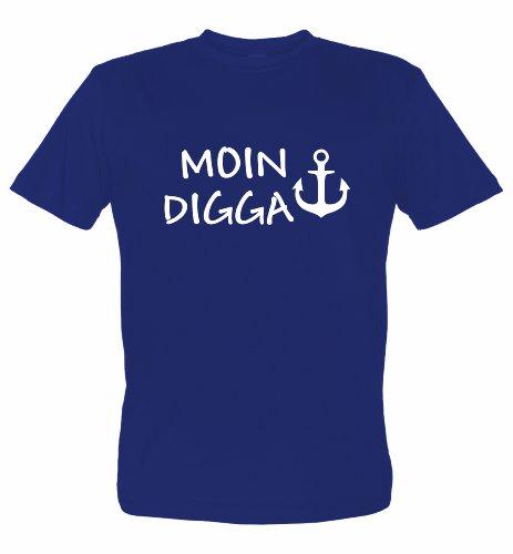 Hamburg T-Shirt Motiv Moin Digga, dunkelblau, XL