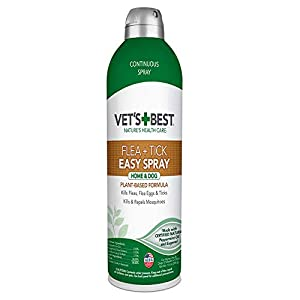 Vet's Best Flea and Tick Easy Spray | Flea Treatment for Dogs and Home | Flea Killer with Certified Natural Oils, 14 oz
