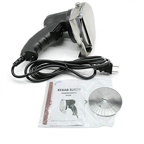 Cuchilla eléctrica para kebabs, kebab, trinchador, slicer, 1-8 mm, 80 W, con...