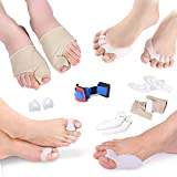 Bunion Corrector and Bunion Relief Protector Sleeves Kit - Orthopedic Bunion Splint Foot Pain Relief Hallux Valgus Gel Toe Separators for Women and Men